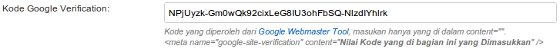 Konfigurasi Google Site Verification